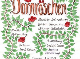 Plakat Dornröschen NEU